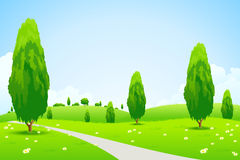 Green Landscape with  Trees Stock Photography