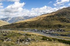 Green landscape at Vall d Incles in Andorra Stock Images