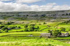 Green landscape of Yorkshire Dales, England Stock Photos