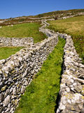 Green Lane Dry Stone Walls Hill Farmland Stock Photography