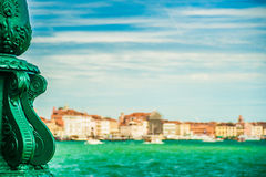 Green lantern on Giudecca island Royalty Free Stock Image
