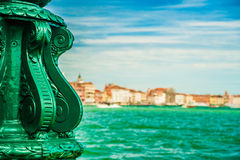 Green lantern on Giudecca island Royalty Free Stock Images