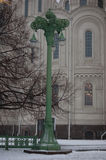 Green lantern in Kronstadt Royalty Free Stock Photo