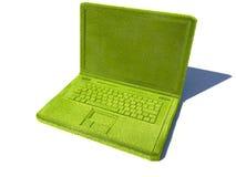 Green laptop Stock Image