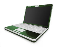 Green laptop Royalty Free Stock Image