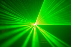 Green laser 2. Green laser lights during show Royalty Free Stock Images