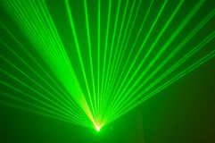 Green laser 3. Green laser lights during show Royalty Free Stock Photos