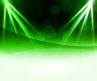 Green Laser Abstract Background Royalty Free Stock Photo