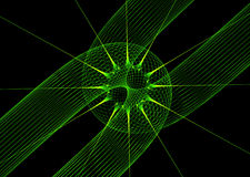 Green laser background Stock Image