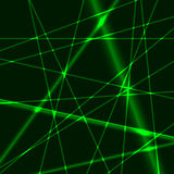 Green laser background. Background made from green laser beams Stock Photo