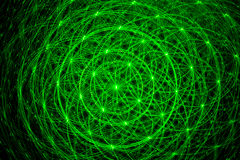 Green laser beams. An abstract background of green laser beams stock illustration