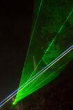 Green laser beams Stock Images