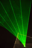 Green laser beams Royalty Free Stock Photo