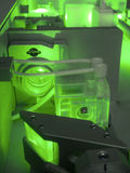 Green laser fragment Stock Photography