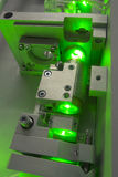 Green laser fragment Stock Photos
