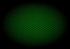 Green laser grid diagonal in elipse Royalty Free Stock Photos