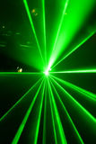 Green laser light. In a disco Royalty Free Stock Photography