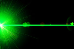 Green laser light Stock Photography
