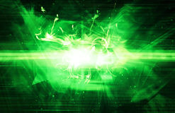 Green laser light background Royalty Free Stock Photo