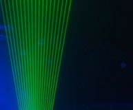 Green Laser Light Background Royalty Free Stock Photos