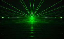 Green laser Stock Photo