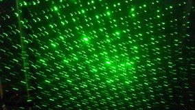 Green laser pattern. Blurry green laser pattern Stock Image