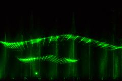 Green laser show Royalty Free Stock Photos