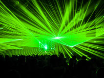 Lasers in Nightclub Party Royalty Free Stock Photos