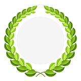 Green laurel wreath stock illustration