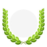 Green laurel wreath royalty free illustration