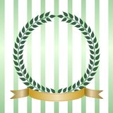 Green Laurel Wreath With Banner Stock Images
