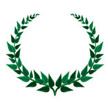 Green Laurel wreath illustration isolated on white Royalty Free Stock Images