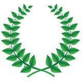 Green laurel wreath isolated, vector Stock Photo