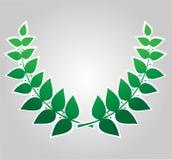 Green laurel wreath , vector Royalty Free Stock Image