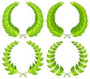 Green laurel wreaths Stock Photo