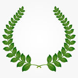 Green laurel wreaths Royalty Free Stock Image