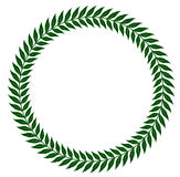 Green laurel wreaths - vector illustration Royalty Free Stock Photos