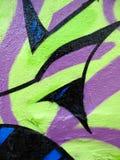 Green and lavender graffiti Royalty Free Stock Image