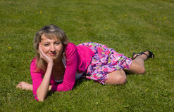 On a green lawn Royalty Free Stock Photo