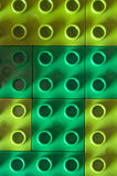 Green lawn. A plastic green lawn with lego blocks Stock Photos