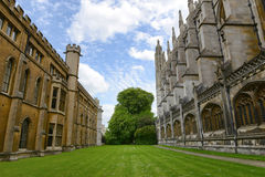 Green Lawn Between Buildings at Kings College Stock Photos