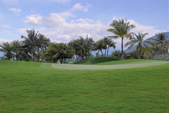 Green lawn for golf Royalty Free Stock Photography