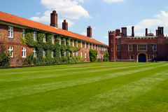 Green lawn in Hampton Court Royalty Free Stock Photo
