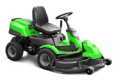 Green lawn mower Stock Photography