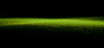 Green lawn at night Royalty Free Stock Image