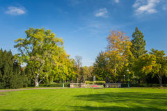 Green lawn in Royal Garden in Prague, Czech Royalty Free Stock Photography