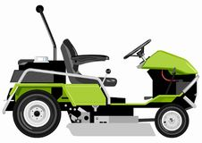 Green lawnmower Stock Photography