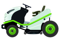 Green lawnmower Stock Images