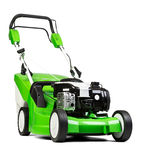 Green lawnmower  on white background. Stock Photography