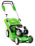 Green lawnmower  on white background. Stock Images